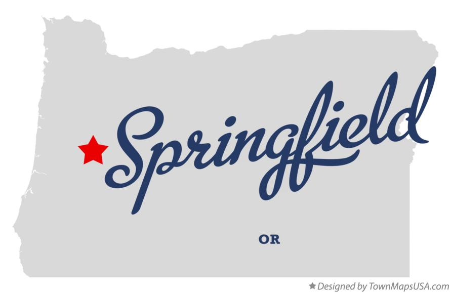 Map of Springfield Oregon OR