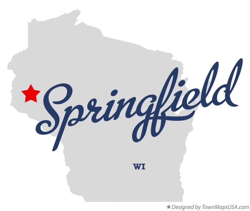 Map of Springfield Wisconsin WI