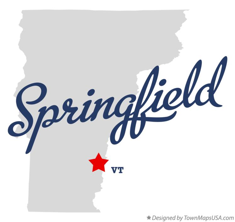 Map of Springfield Vermont VT