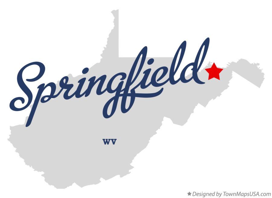 Map of Springfield West Virginia WV