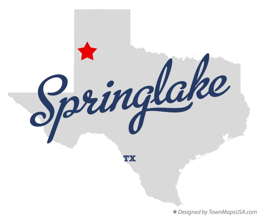 Map of Springlake Texas TX