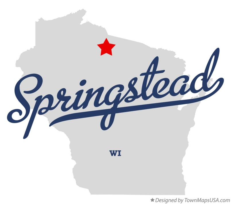 Map of Springstead Wisconsin WI