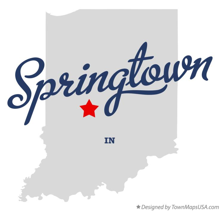 Map of Springtown Indiana IN