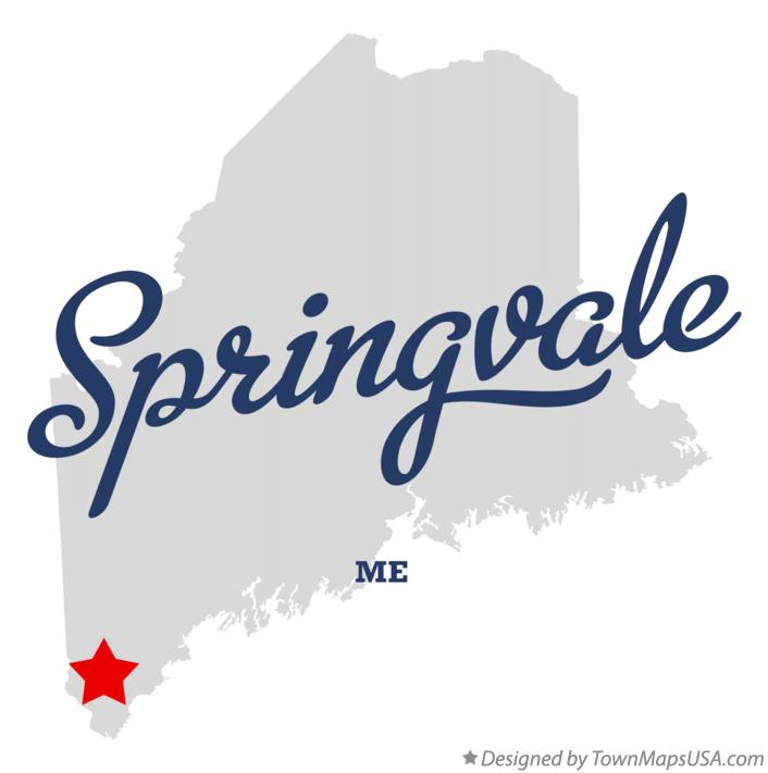 Map of Springvale Maine ME