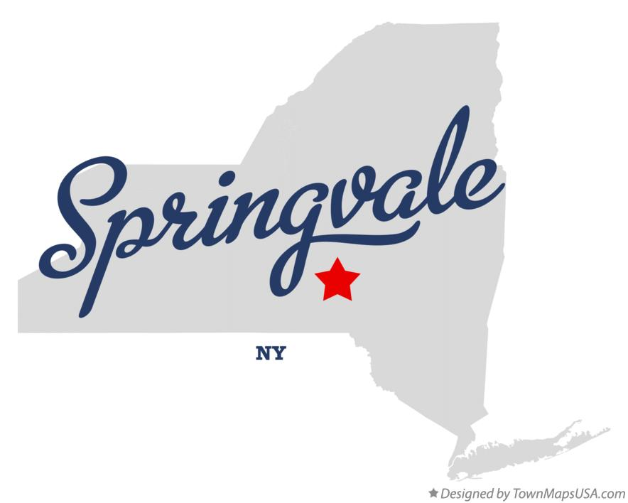 Map of Springvale New York NY