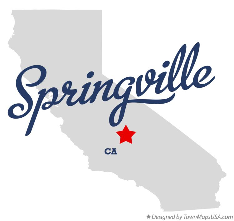 Map of Springville California CA