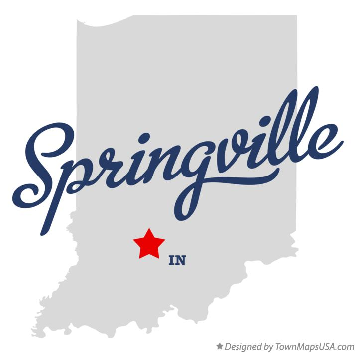 Map of Springville Indiana IN