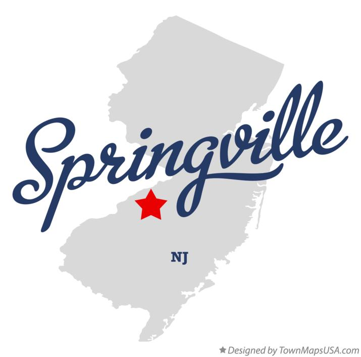 Map of Springville New Jersey NJ