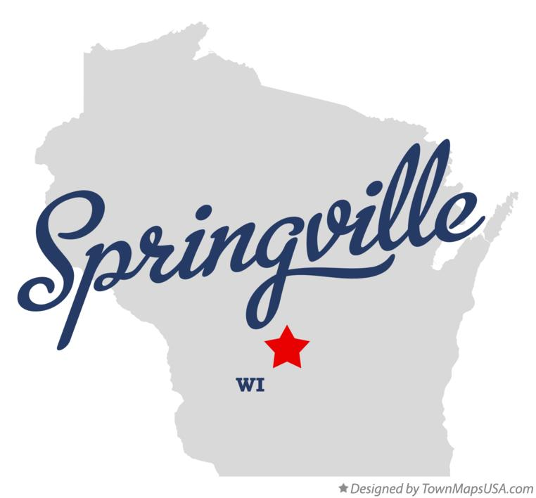 Map of Springville Wisconsin WI