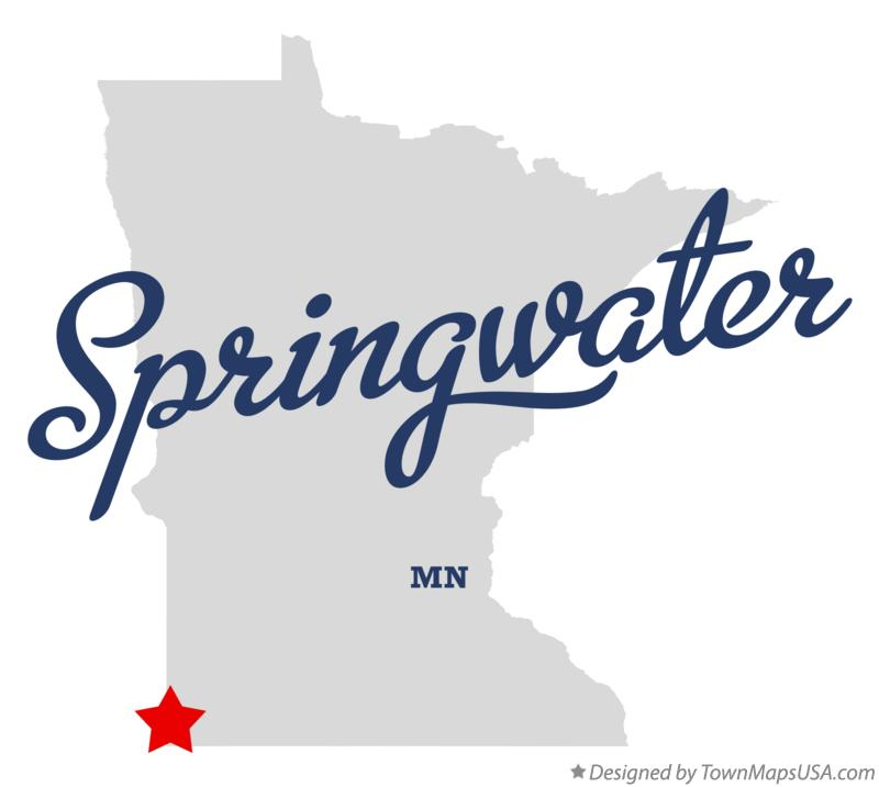 Map of Springwater Minnesota MN