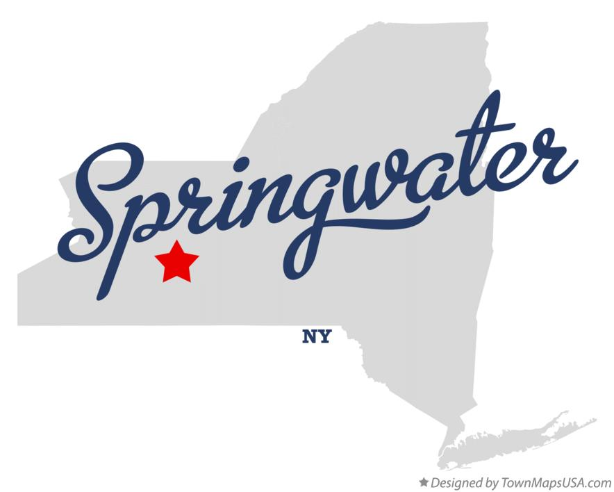 Map of Springwater New York NY
