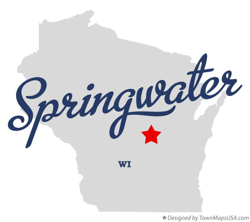 Map of Springwater Wisconsin WI