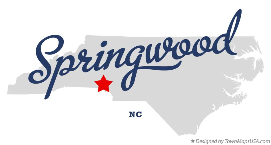 Map of Springwood North Carolina NC