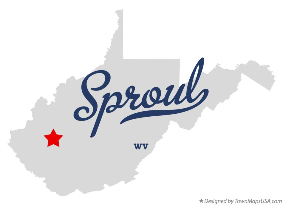 Map of Sproul West Virginia WV