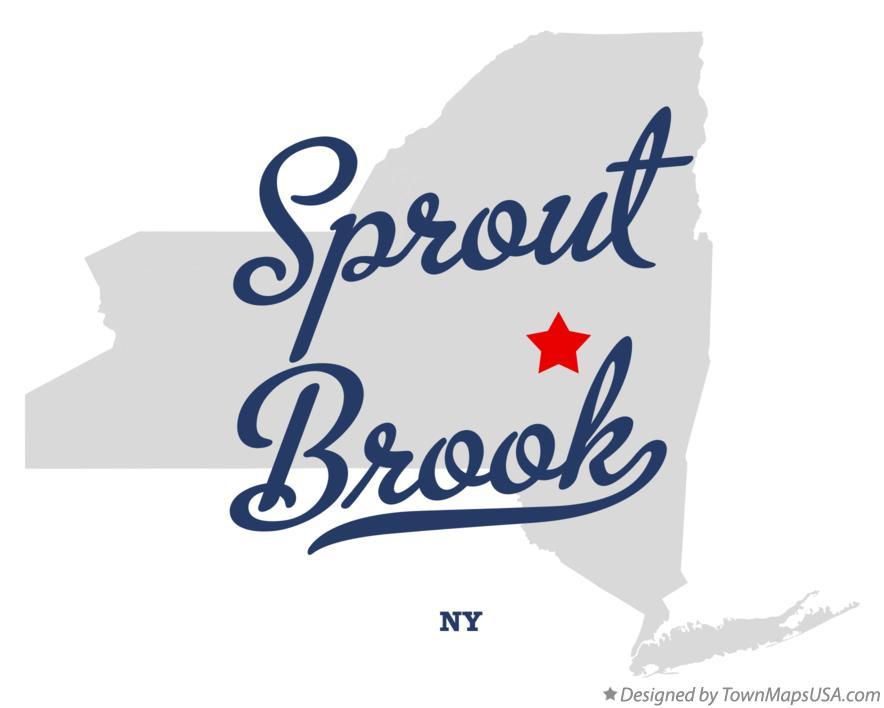 Map of Sprout Brook New York NY
