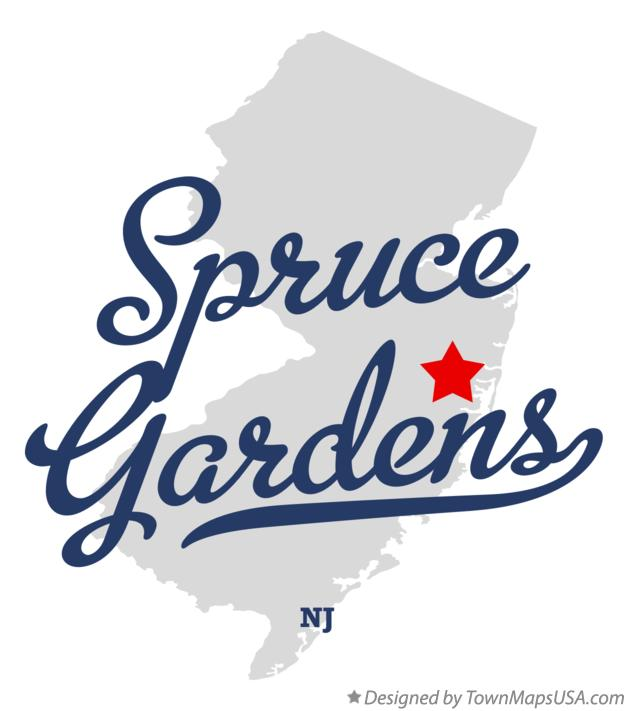 Map of Spruce Gardens New Jersey NJ