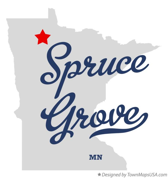 Map of Spruce Grove Minnesota MN