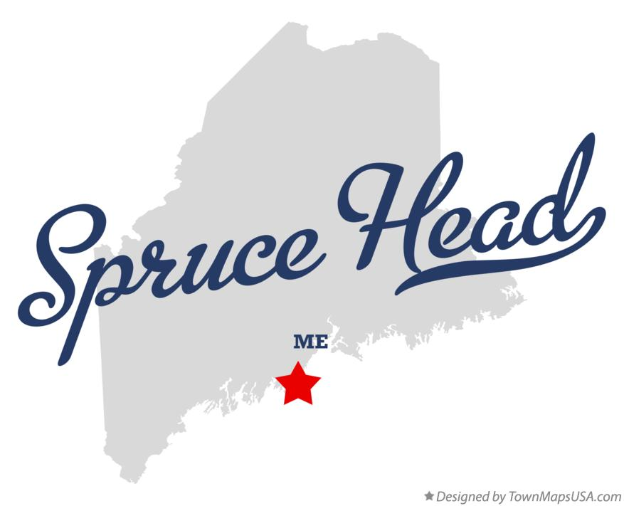 Map of Spruce Head Maine ME