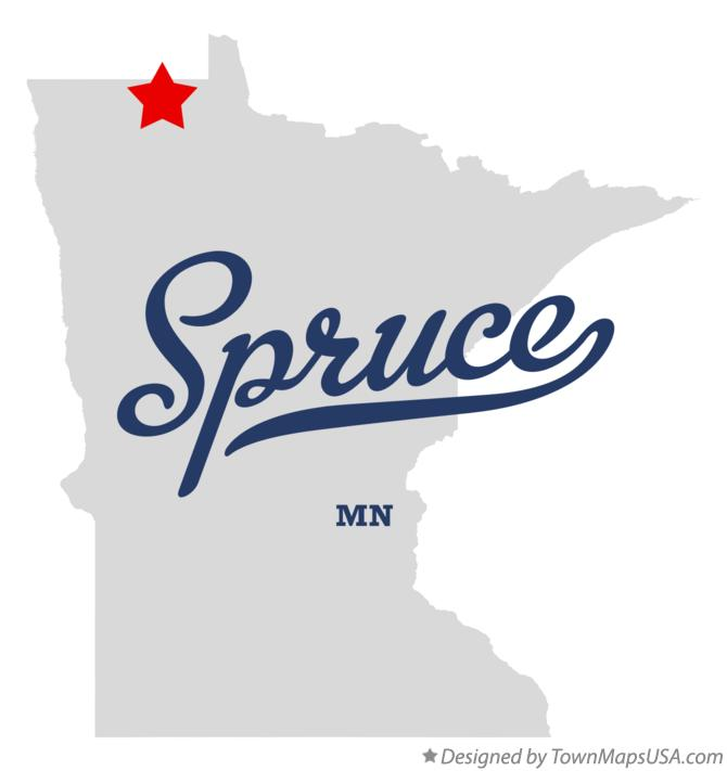 Map of Spruce Minnesota MN