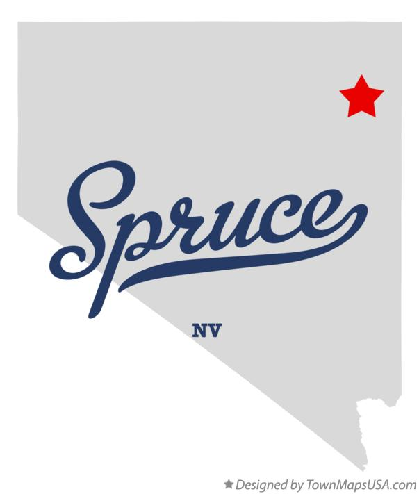 Map of Spruce Nevada NV