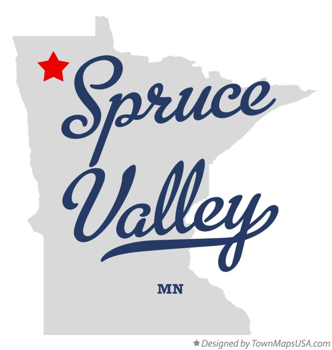 Map of Spruce Valley Minnesota MN