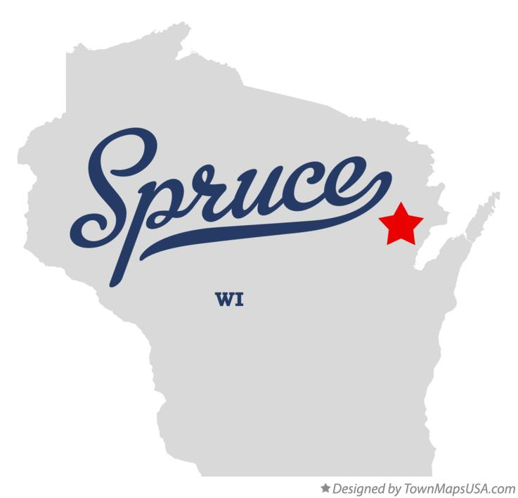 Map of Spruce Wisconsin WI