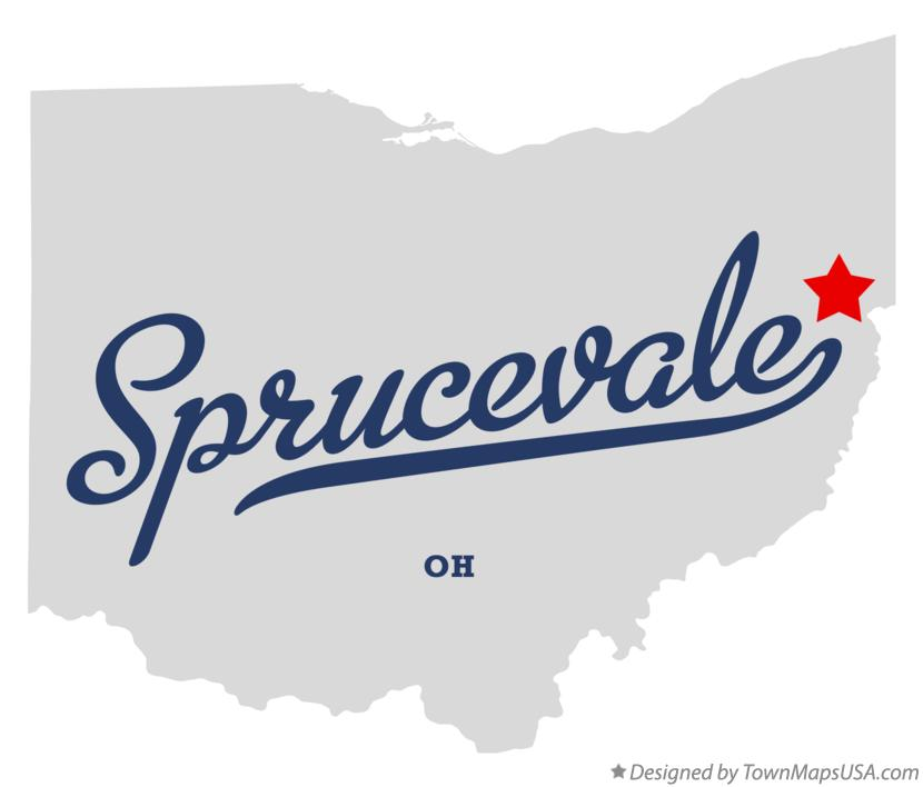 Map of Sprucevale Ohio OH