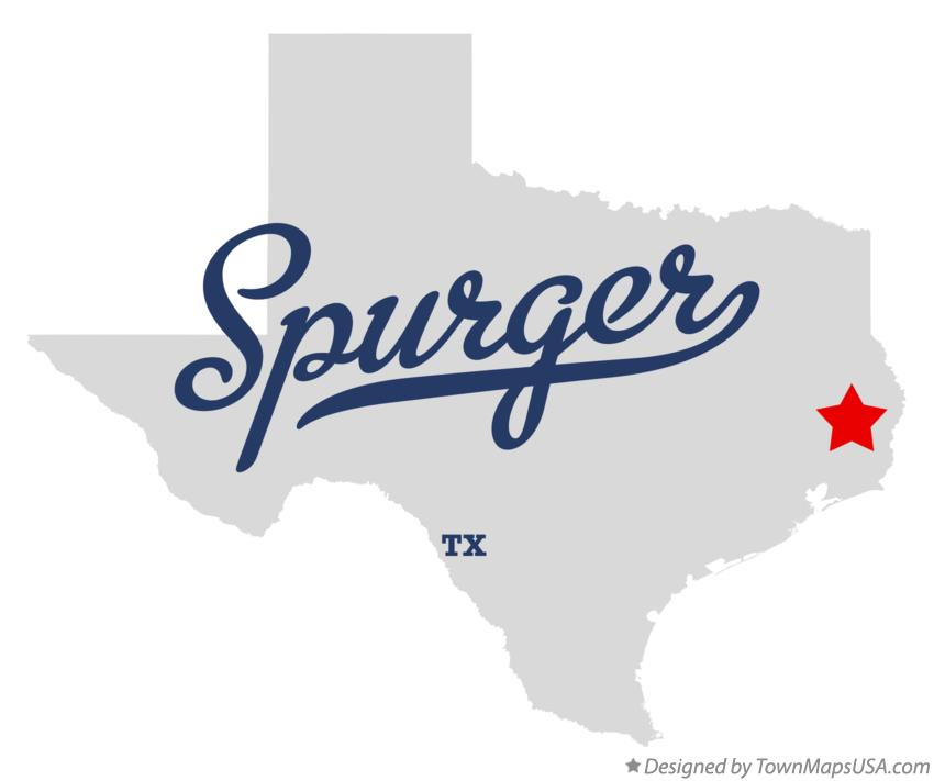 Map of Spurger Texas TX