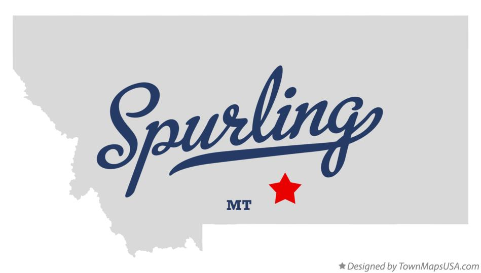 Map of Spurling Montana MT