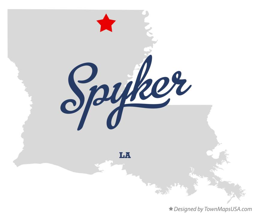 Map of Spyker Louisiana LA