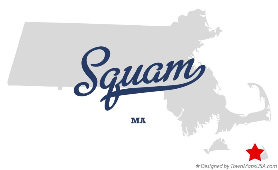 Map of Squam Massachusetts MA
