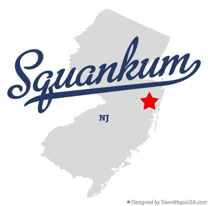 Map of Squankum New Jersey NJ