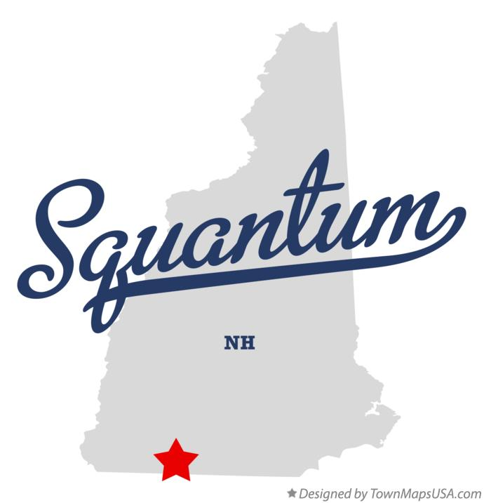 Map of Squantum New Hampshire NH