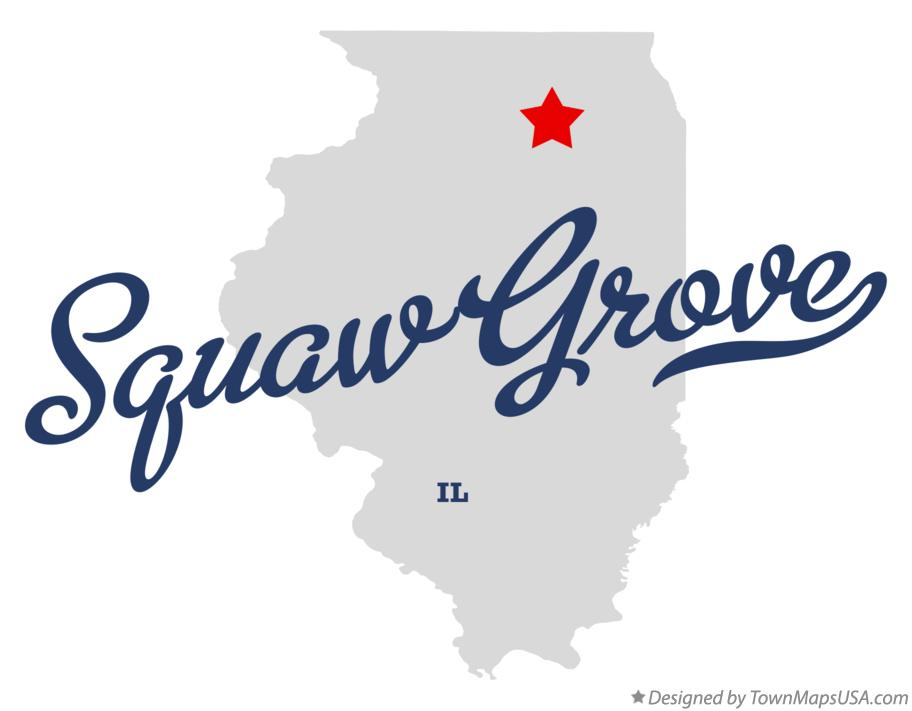 Map of Squaw Grove Illinois IL