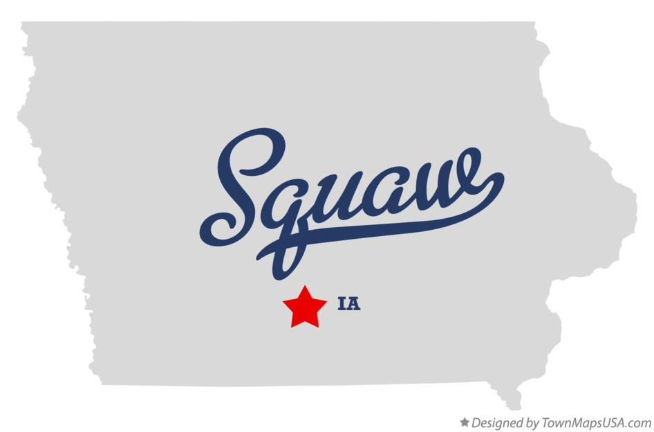 Map of Squaw Iowa IA