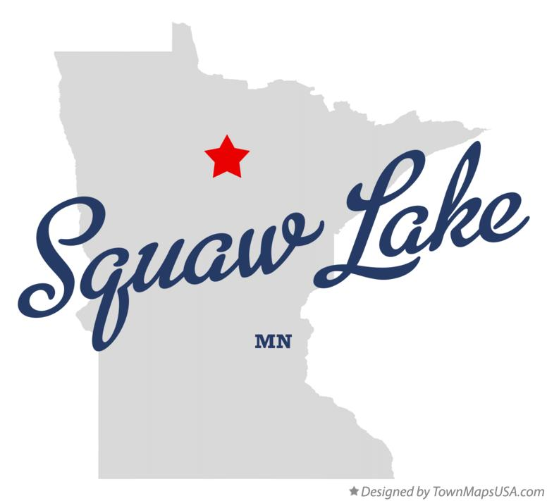 Map of Squaw Lake Minnesota MN