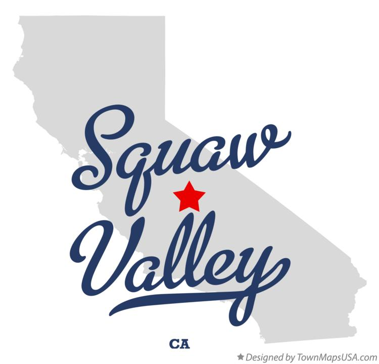 Map of Squaw Valley California CA