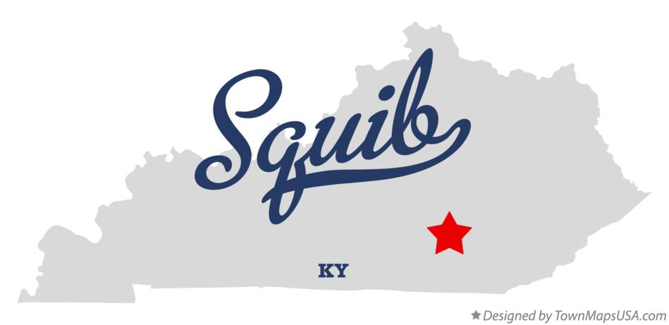 Map of Squib Kentucky KY