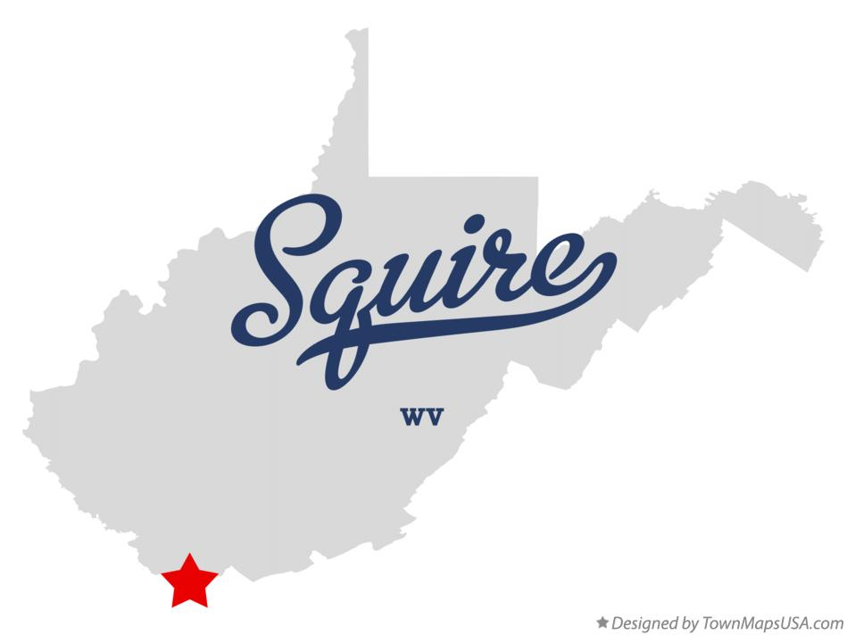 Map of Squire West Virginia WV