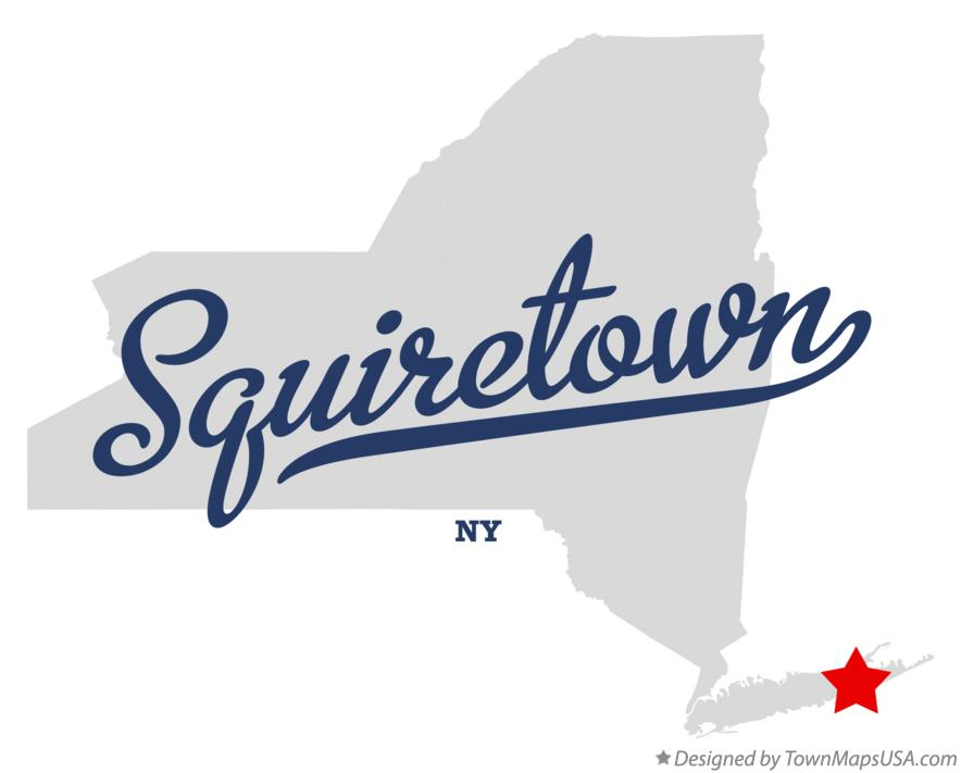 Map of Squiretown New York NY