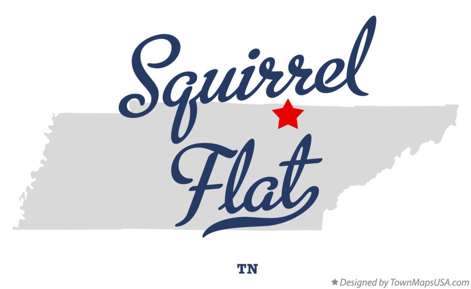 Map of Squirrel Flat Tennessee TN