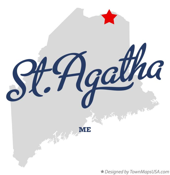 Map of St.Agatha Maine ME
