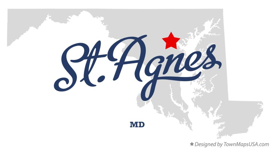 Map of St.Agnes Maryland MD