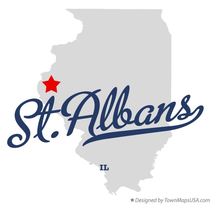 Map of St.Albans Illinois IL