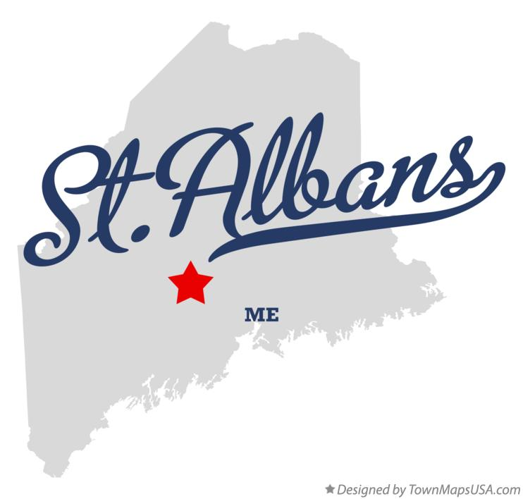 Map of St.Albans Maine ME
