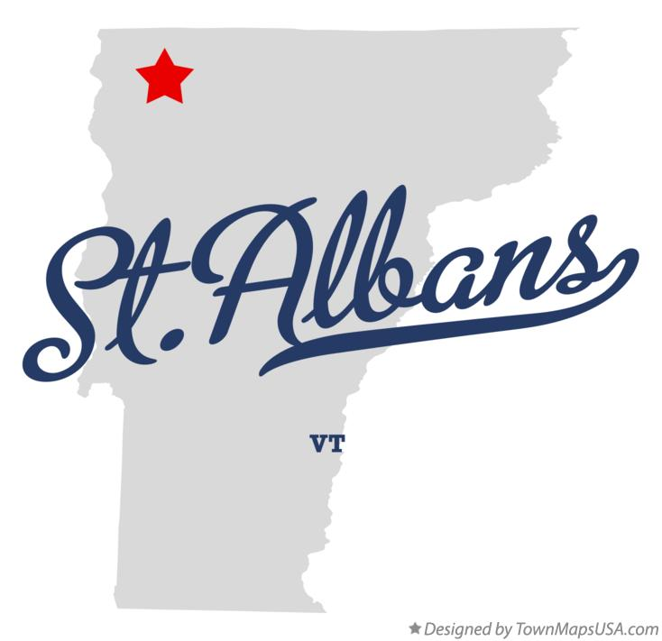 Map of St.Albans Vermont VT