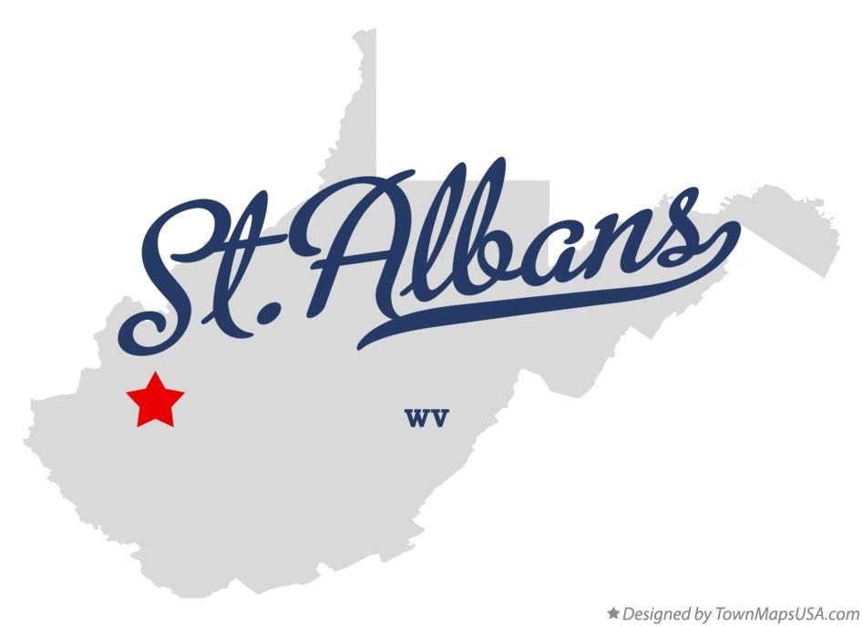 Map of St.Albans West Virginia WV