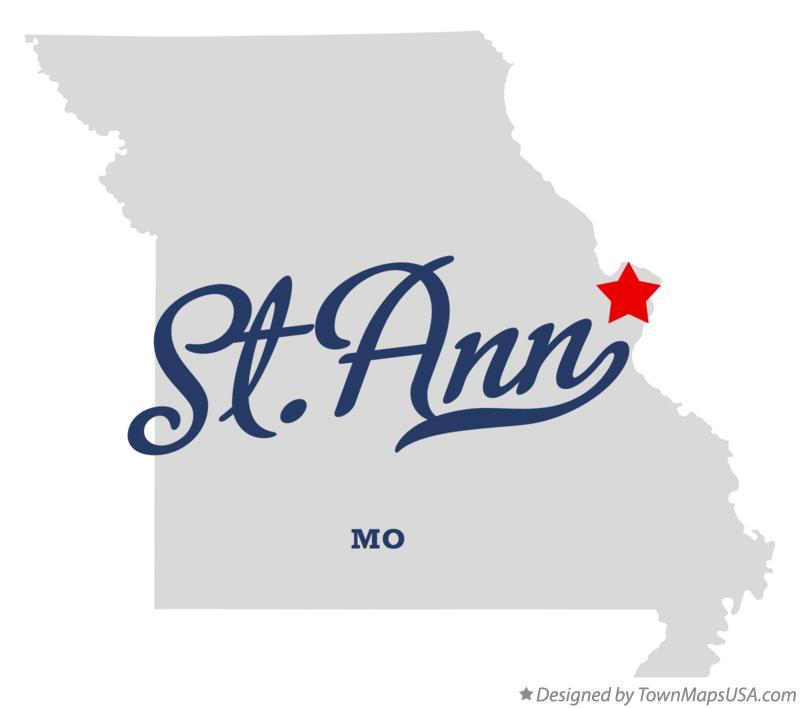 Woodson Terrace (MO) United States  city images : Map of St. Ann Missouri MO
