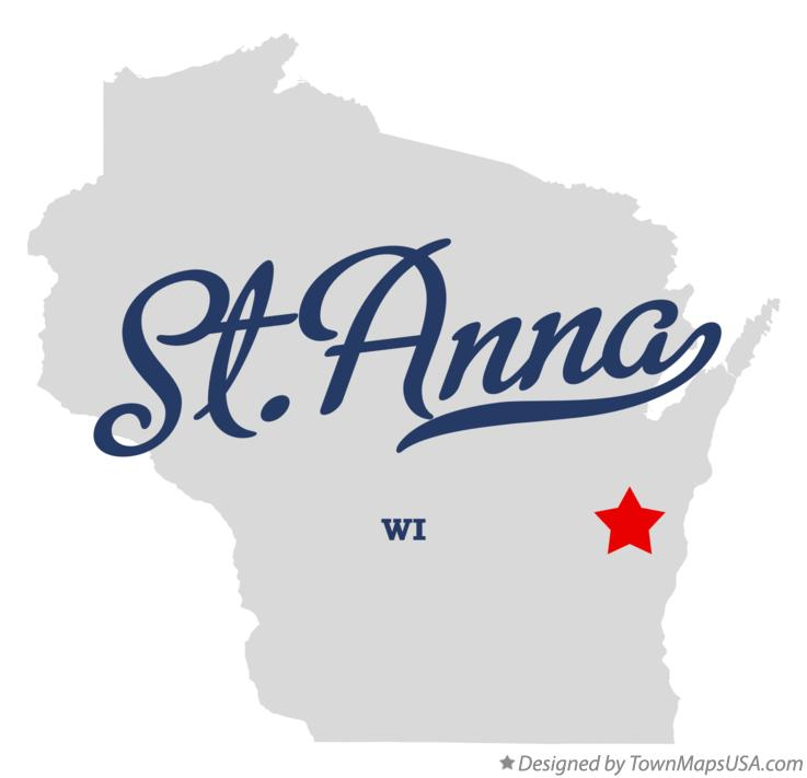 Map of St.Anna Wisconsin WI
