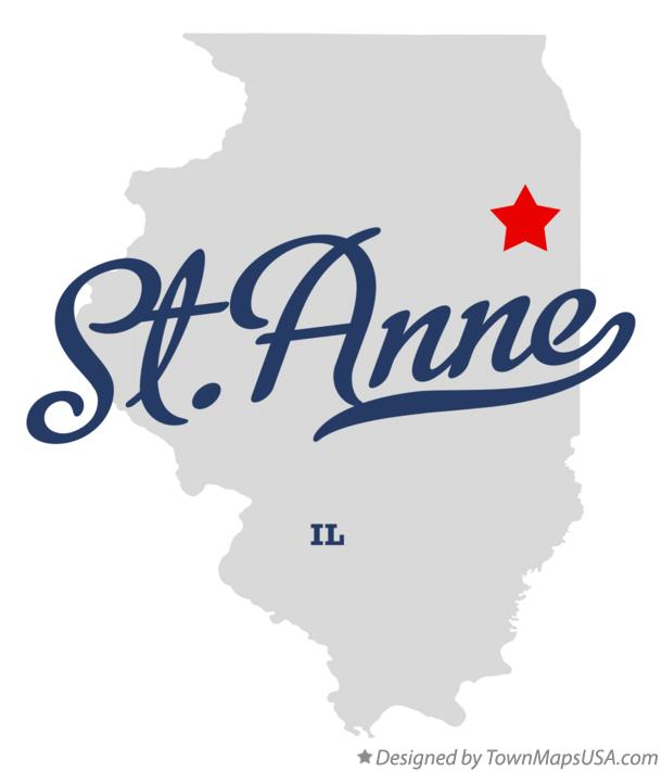 Map of St.Anne Illinois IL